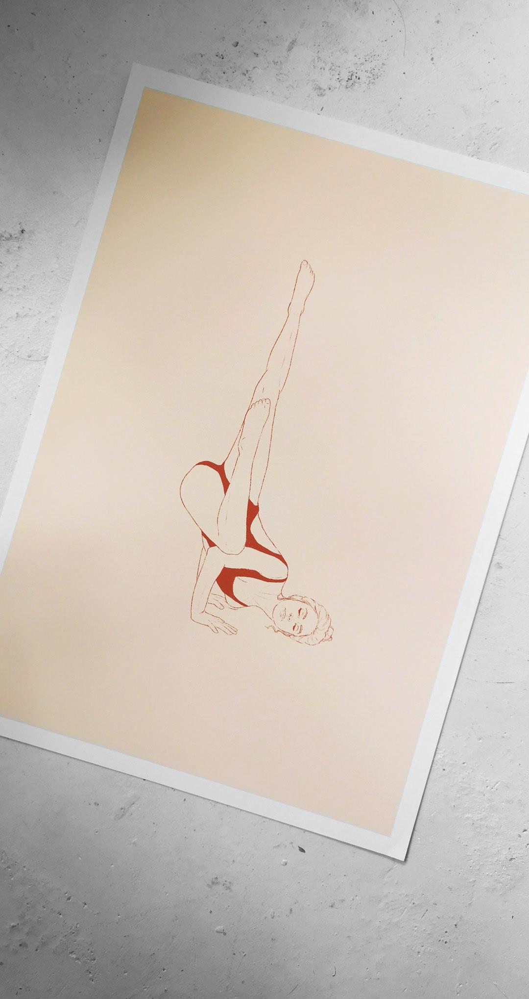 Yoga Illustration Pose Poster