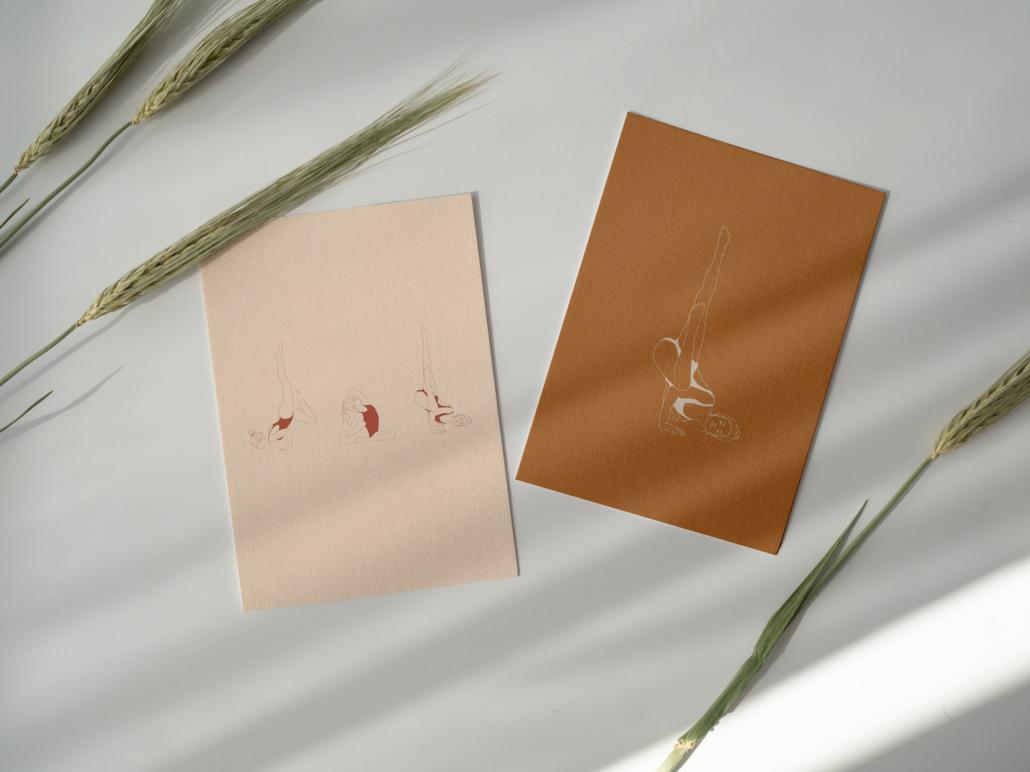 Yoga Illustration Postcards
